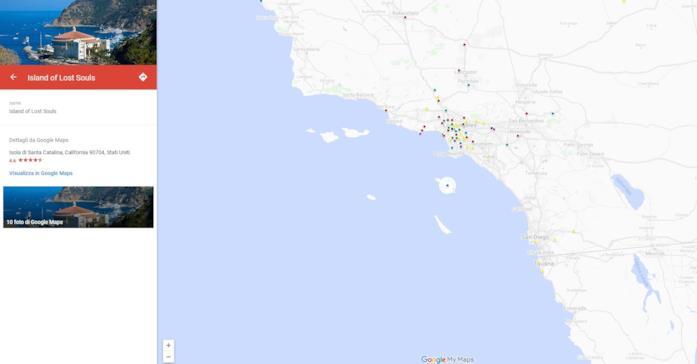 La mappa delle location del film L'isola delle anime perdute
