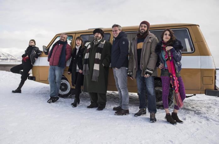 Il cast di Hotel Gagarin