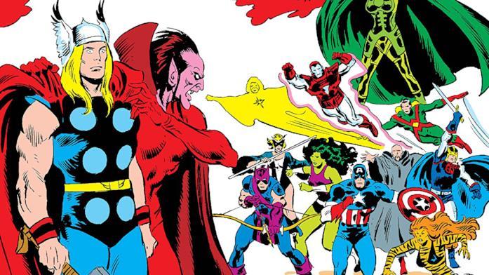 Dettaglio della cover di Mephisto Vs. The Avengers