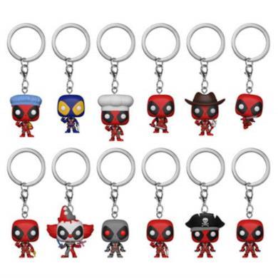 Funko- Marvel-Deadpool Keychain-Assortment 12Pz-New York Toy Fair Portachiavi, Multicolore, Standard, 31144