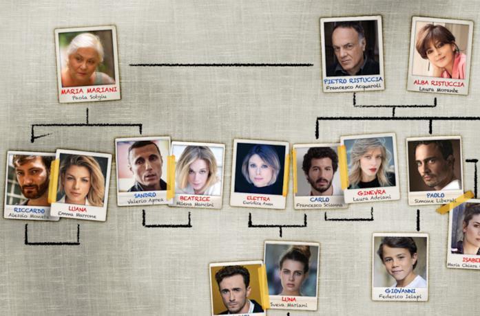 Il cast della serie TV a casa tutti bene