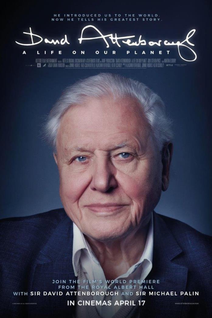 Primo piano di David Attenborough