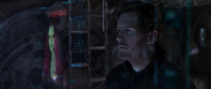 Peter Quill cerca Gamora sul monitor