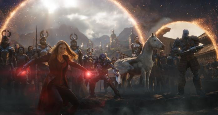 Elizabeth Olsen come Scarlet Witch in Avengers: Endgame