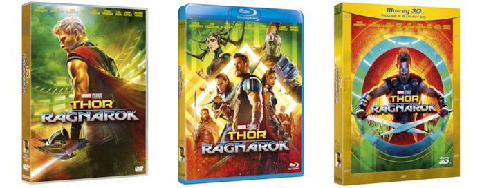 I cofanetti Home Video di Thor: Ragnarok