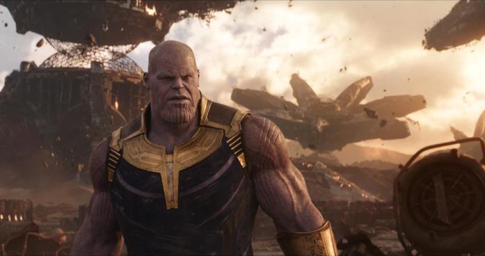 Thanos interpretato da Josh Brolin in Avengers: Infinity War
