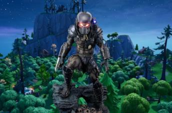 La skin di Predator in Fortnite Battaglia Reale