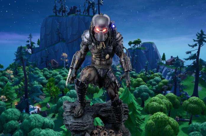 La skin di Predator in Fortnite Battaglia Reale