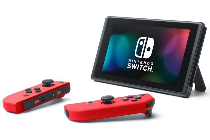 Un'immagine promozionale di Nintendo Switch in modalità tavolo