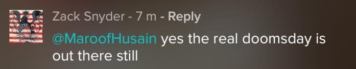 post su Vero di Zack Snyder