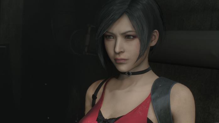 Un primo piano di Ada Wong in Resident Evil 2 Remake