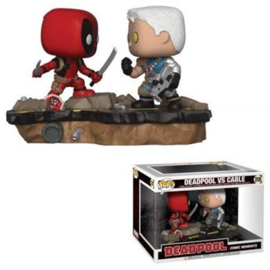 Funko- Pop Marvel: Comic Moments-Deadpool vs. Cable Statua Collezionabile, Multicolore, Standard, 30972