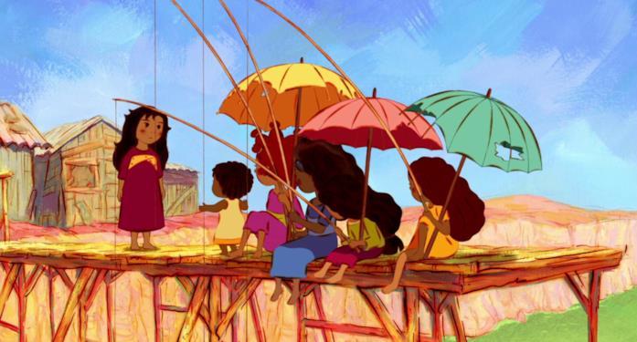Una scena dell'animazione Mia e il Migù