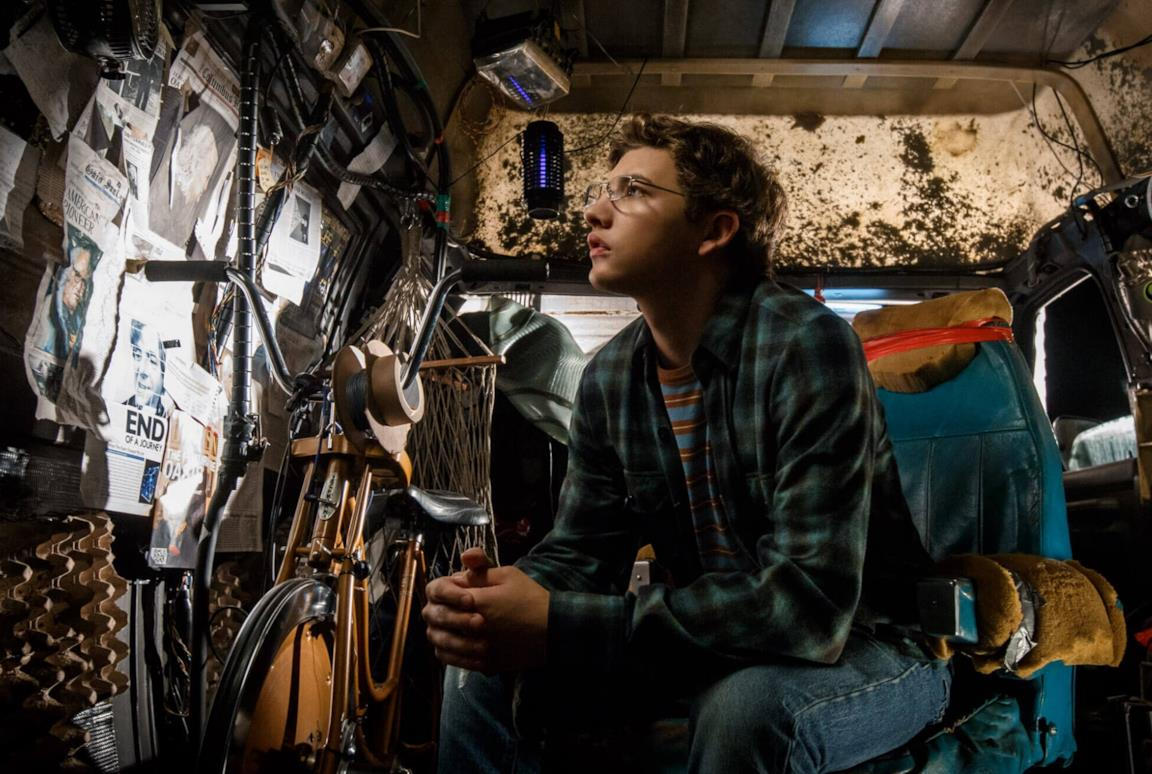 Wade Watts all'interno del suo furgone in Ready Player One