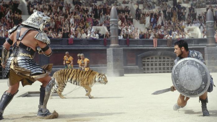 Una scena del film Il Gladiatore