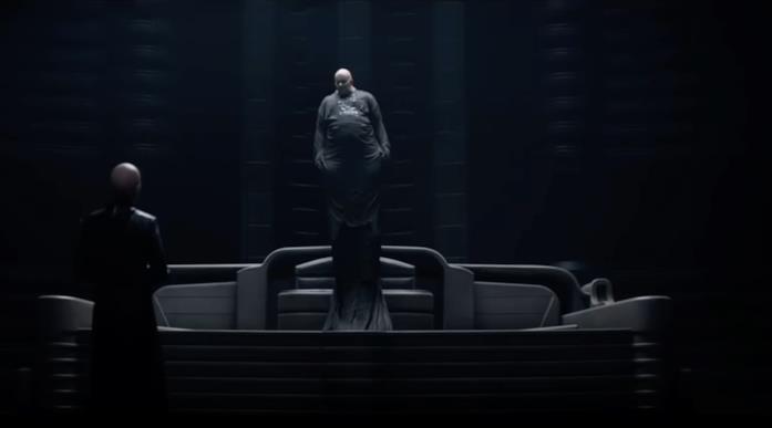 Il Barone Harkonnen in una scena di Dune