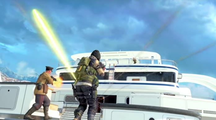 Screen di gioco di Call of Duty: Black Ops 4 in modalità Blackout
