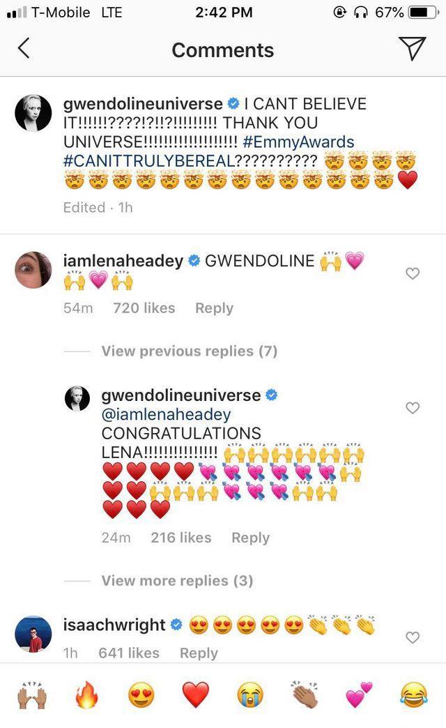I commenti di Isaac Hempstead-Wright e Lena Headey alla nomination di Gwendoline Christie