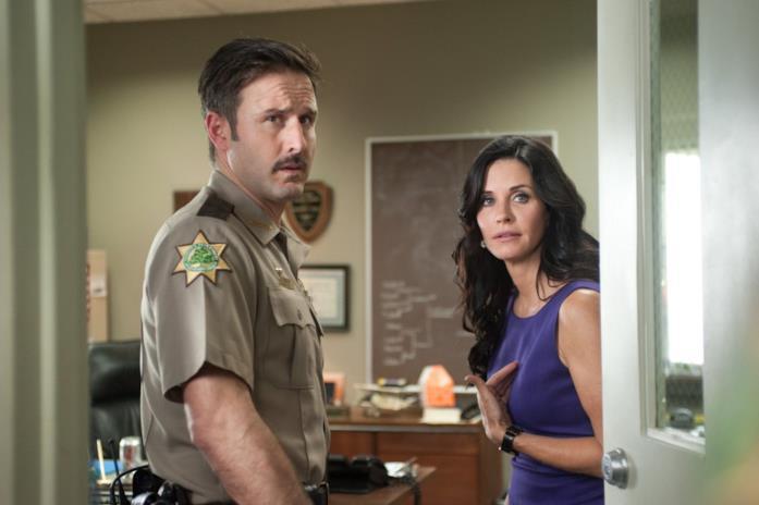 Cox e Arquette in Scream 4