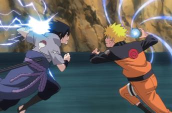 Naruto affronta Sasuke