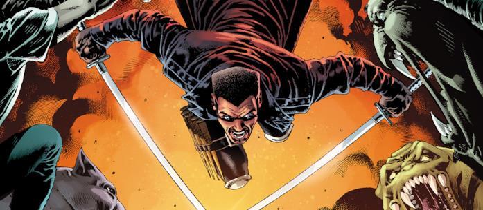 Blade in una tavola Marvel Comics