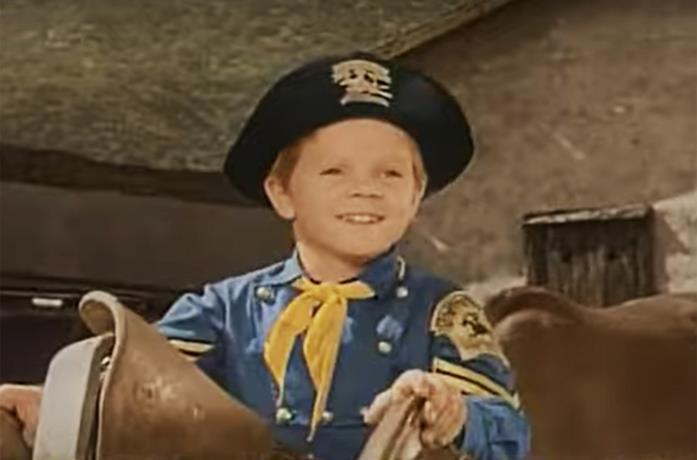 Lee Aaker ne Le avventure di Rin Tin Tin