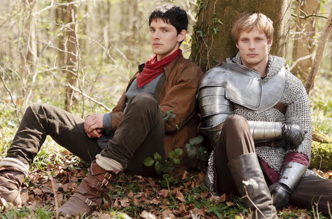 Colin Morgan e Bradley James sono Merlin e Arthur