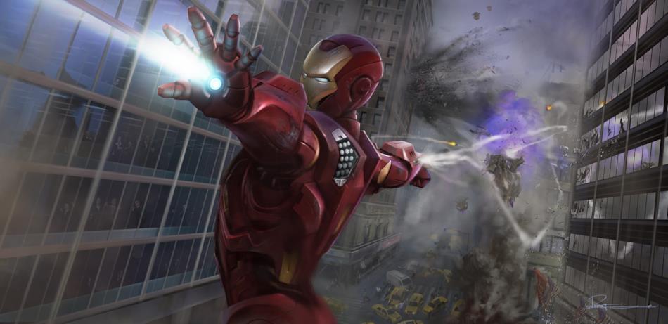 Iron Man spara sia a destra che a sinistra