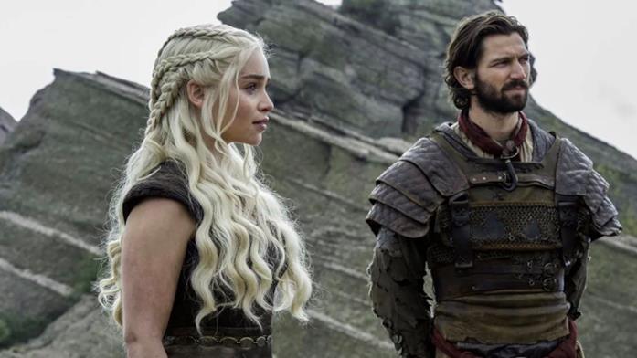 Daario e Daenerys in Game of Thrones