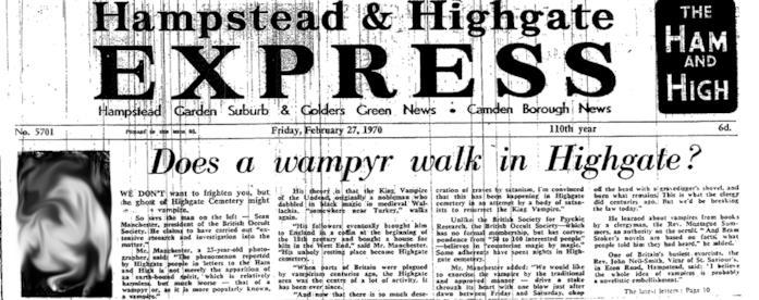 Un articolo sul vampiro di Highgate