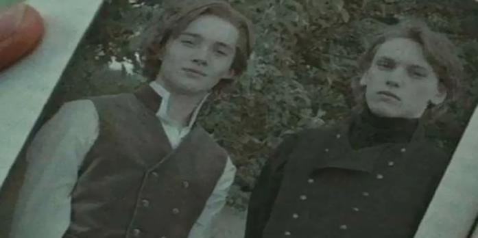 Silente e Grindelwald interpretati da Toby Regbo e Jamie Campbell Bower