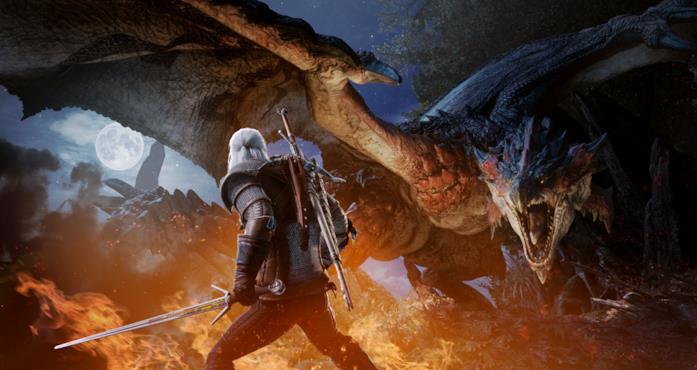 Geralt di Rivia in Monster Hunter World