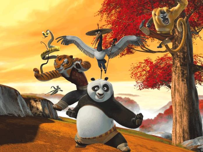 I protagonisti di Kung Fu Panda