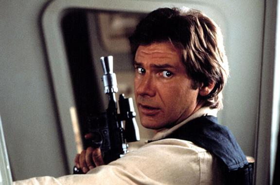Un'immagine che vede Harrison Ford nei panni di Han Solo