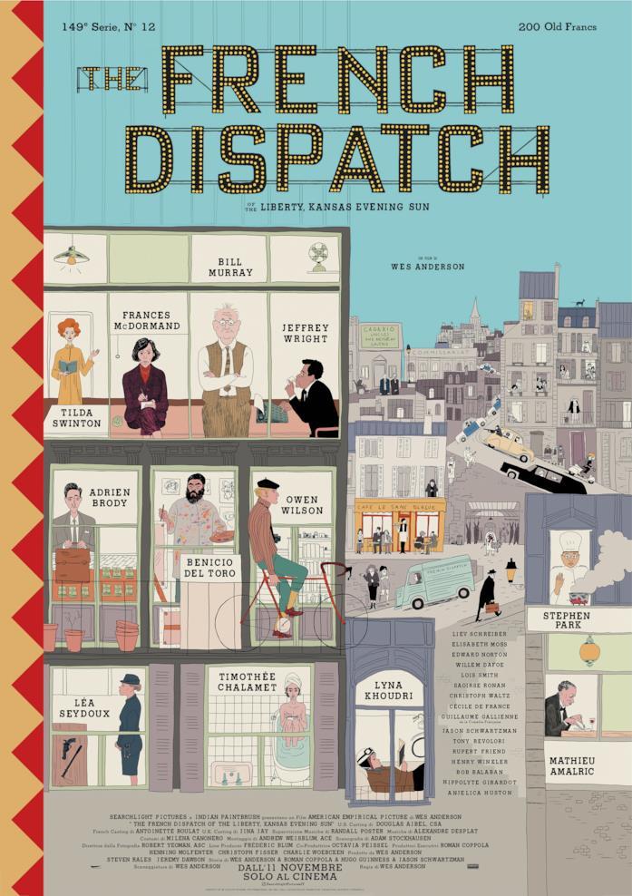 La locandina di The French Dispatch