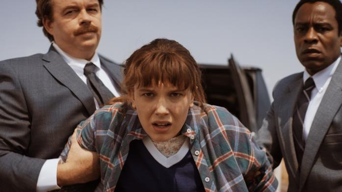 Millie Bobby Brown in una scena di Stranger Things 4