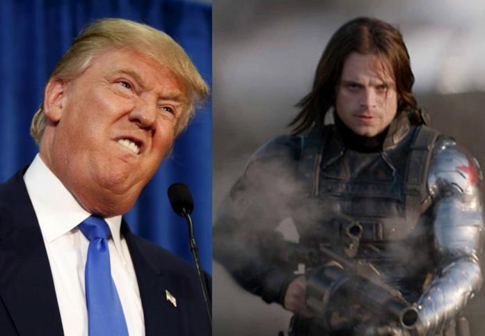 Trump sfida il Soldato d'Inverno