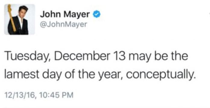 Il tweet compromettente di John Mayer