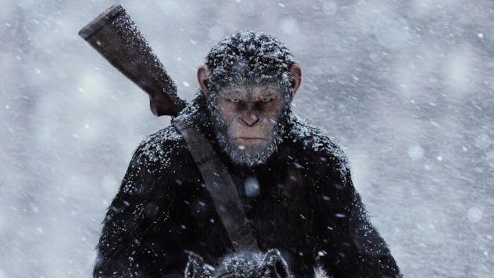 Cesare in guerra in una scena del film