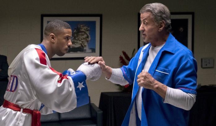 Michael B. Jordan e Sylvester Stallone nel film