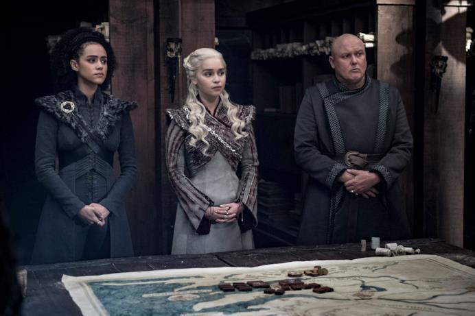 Missandei, Daenerys e Varys preparano la guerra a Grande Inverno