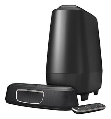 Polk Audio MagniFi - Mini Sound Bar + impianto compatto subwoofer wireless, colore: Nero