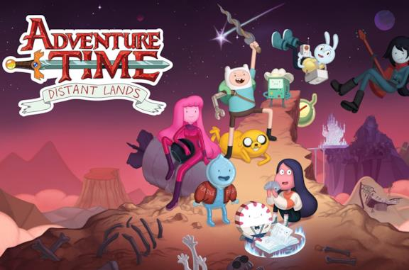 Un'immagine che ritrae i protatonisti di Adventure TIme: Distant Lands