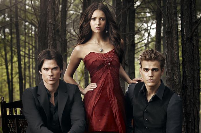 I protagonisti di The Vampire Diaries: Paul Wesley, Nina Dobrev, Ian Somerhalder