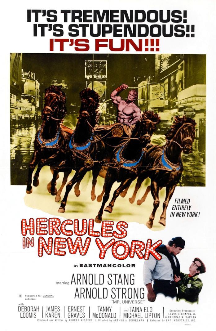 Il poster originale del film Ercole a New York