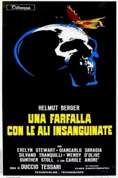 Poster Una farfalla con le ali insanguinate