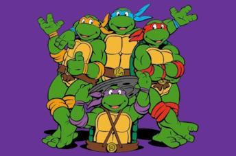 Le quattro tartarughe ninja protagoniste della serie Teenage Mutant Ninja Turtles del 1987.