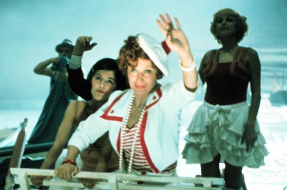 Una scena di Amarcord di Federico Fellini