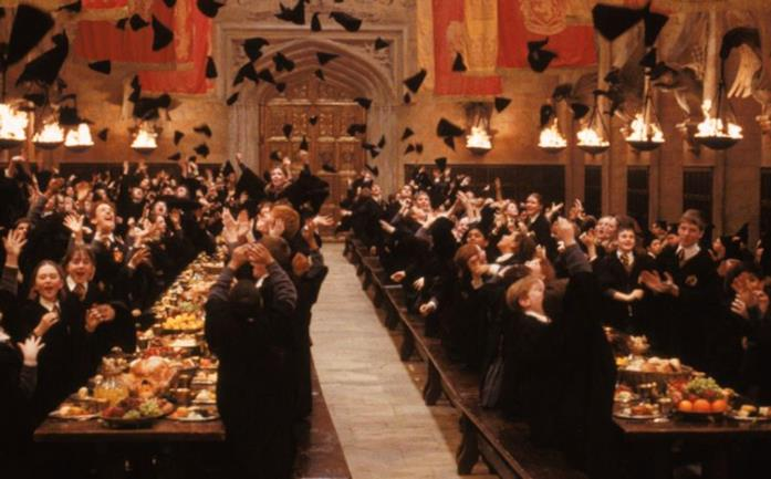 La Sala Grande in Harry Potter