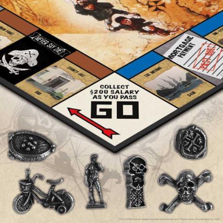 Dettagli delle pedine del Monopoly dei Goonies
